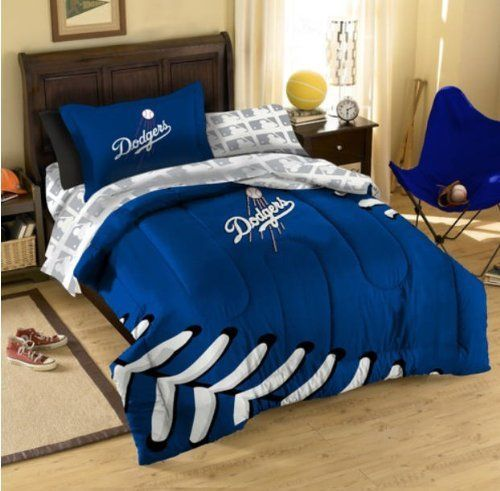 La Dodgers Mlb Full Comforter Sheets Shams 7 Piece Bed In A Bag By Mlb 119 28 The Set Includes 1 Full Full Comforter Sets Comforter Sets Baseball Room