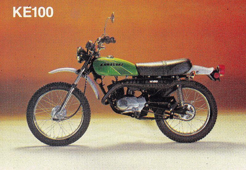 1977 Kawasaki KE100 | Kawasaki | Kawasaki bikes, Motorcycle