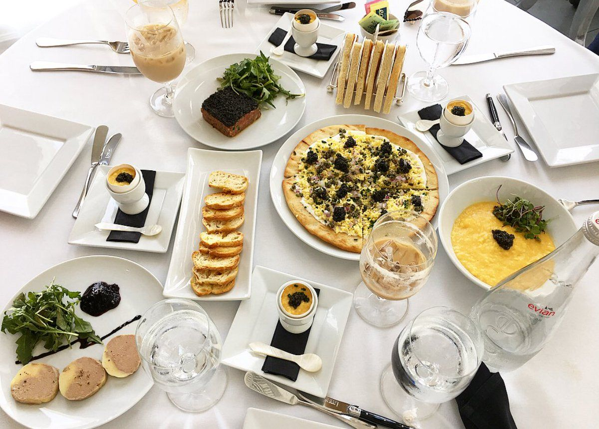 How shall we start? Caviar pizza, caviar tartar, caviar