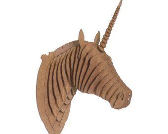 Сapricorn head 3D Puzzle Animal head wall sculpture MDF goat head ...