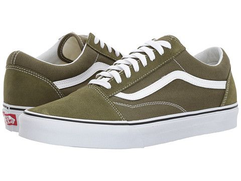 b6b3c6ba38 Vans Old Skool Sneakers (Olive Green) Green Vans Shoes