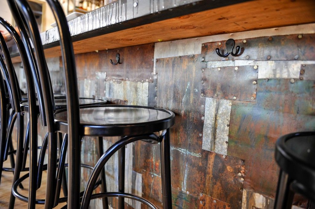 Industrial Style Patchwork Recycled Metal Bar Bar Fronts