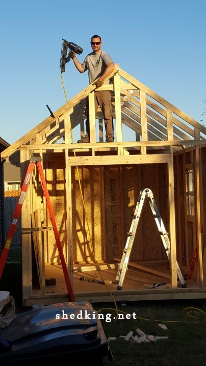10x12 Gable Shed Plans Shed Construction Building A Shed Shed Plans