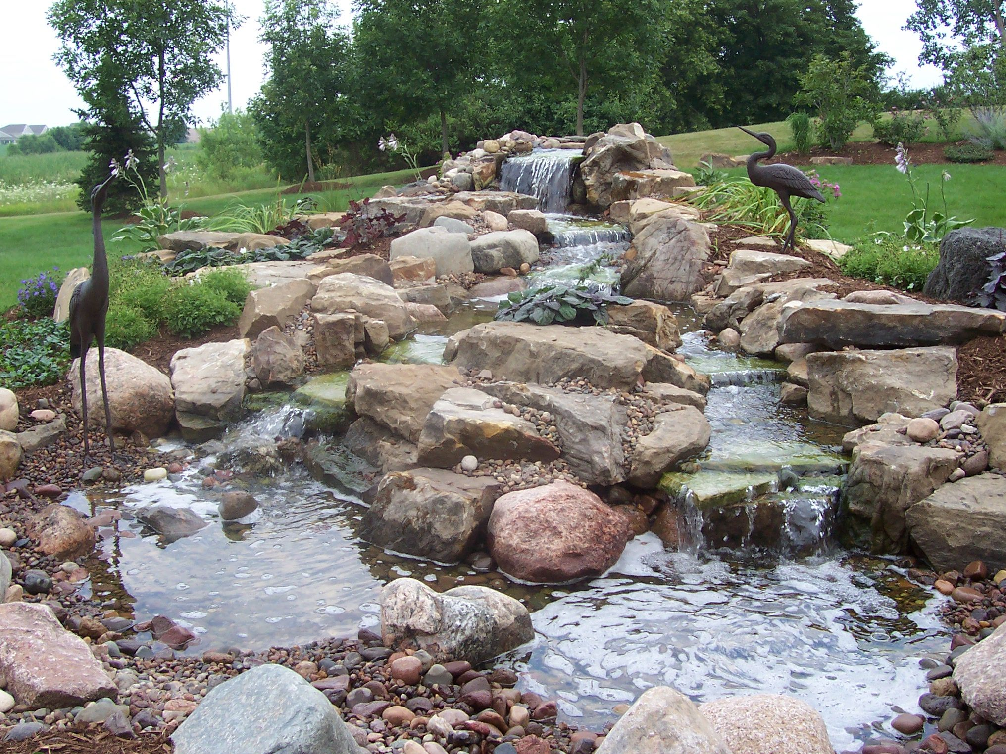 Backyard waterfall pictures welcome to backyard ponds for Garden pond waterfalls for sale