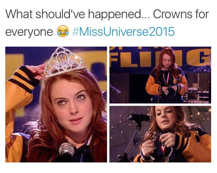 Funny Meme Miss Universe : Miss universe miss columbia miss philippines steve harvey