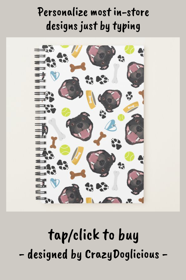 Smiling Dog Staffordshire Bull Terrier Planner #staffordshire #bull #terrier #dog #illustration #Planner #planner #dailyplanner #journal #dailyjournal #personalized #organizing #stayingorganized