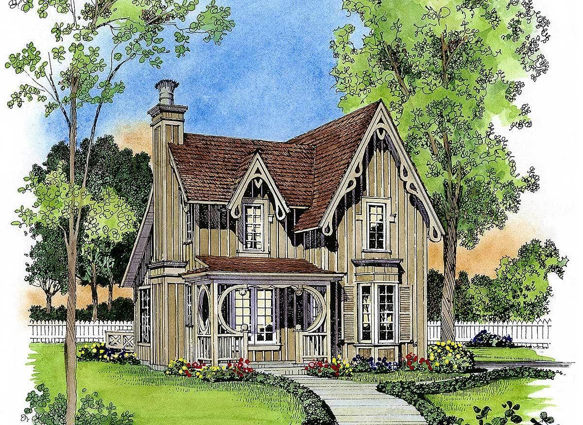 Gothic Revival Gem 43044pf Architectural Designs House Plans
