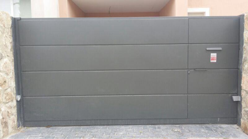 Puerta garaje corredera exterior ms pue190 puertas - Puerta corredera abatible ...