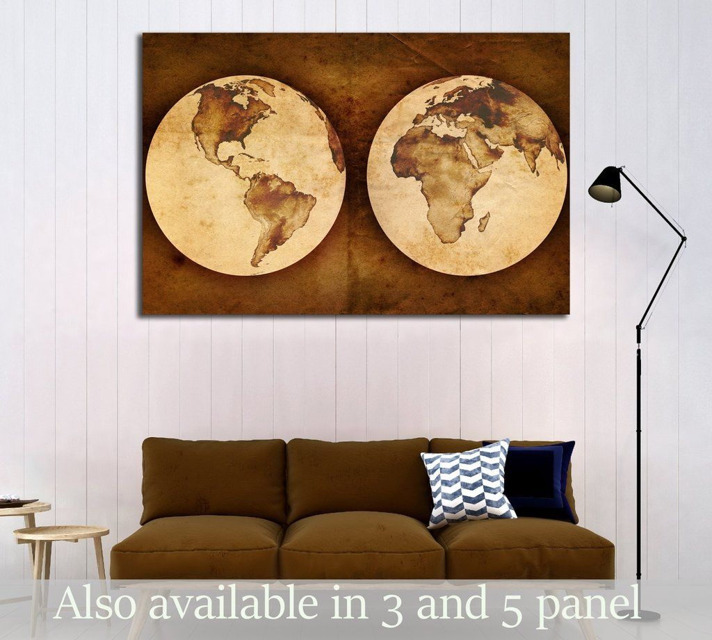 Old world map 2809 canvas print contemporary wall decor art old world map 2809 gumiabroncs Gallery
