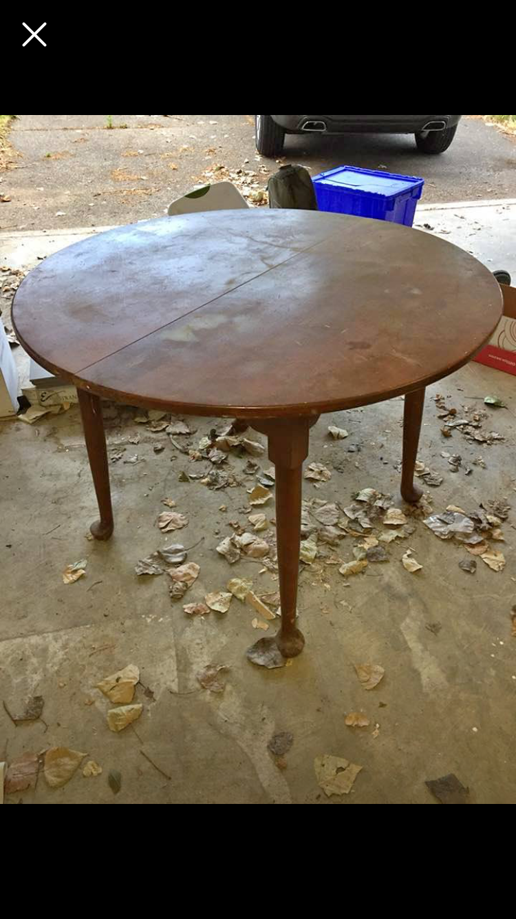 Solid Maple Dining Table 42 Inch Diameter