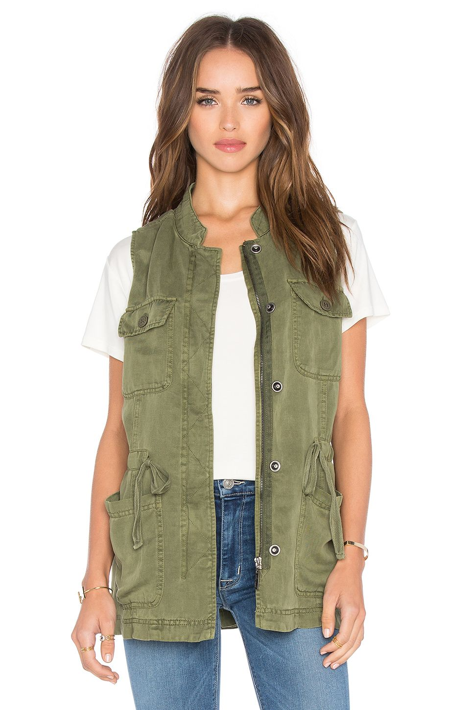 d1eae26269763 Sanctuary Canyon Military Vest in Cactus   REVOLVE   Confessions of ...
