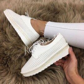 Poze Pantofi Allison White #B475