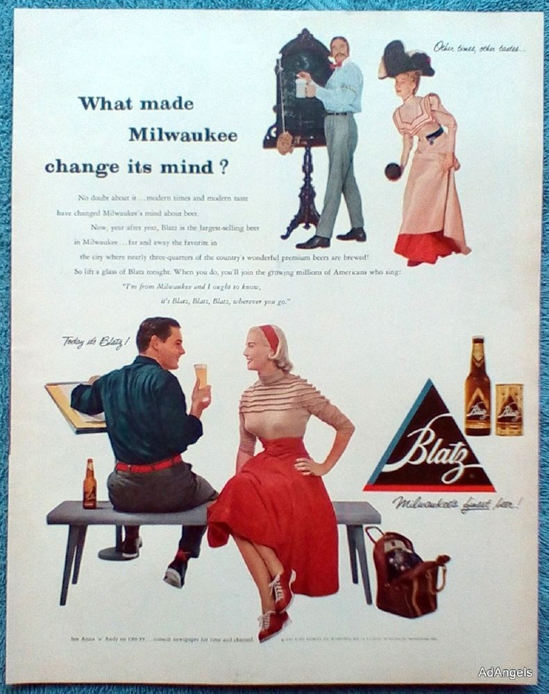 1953 Blatz Beer ad  This is for the advertisement only, not
