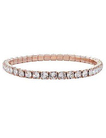 Bracelets By Swarovski Bracelets Tennis Bracelet Gold Stretch Bracelet