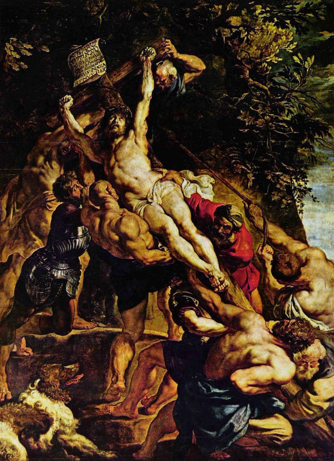 Elevation Of The Cross 1610 Magnificent Italian Body Is Satan The Muscular Figure Supporting X Check Out Peter Paul Rubens Rubens Paintings Baroque Painting