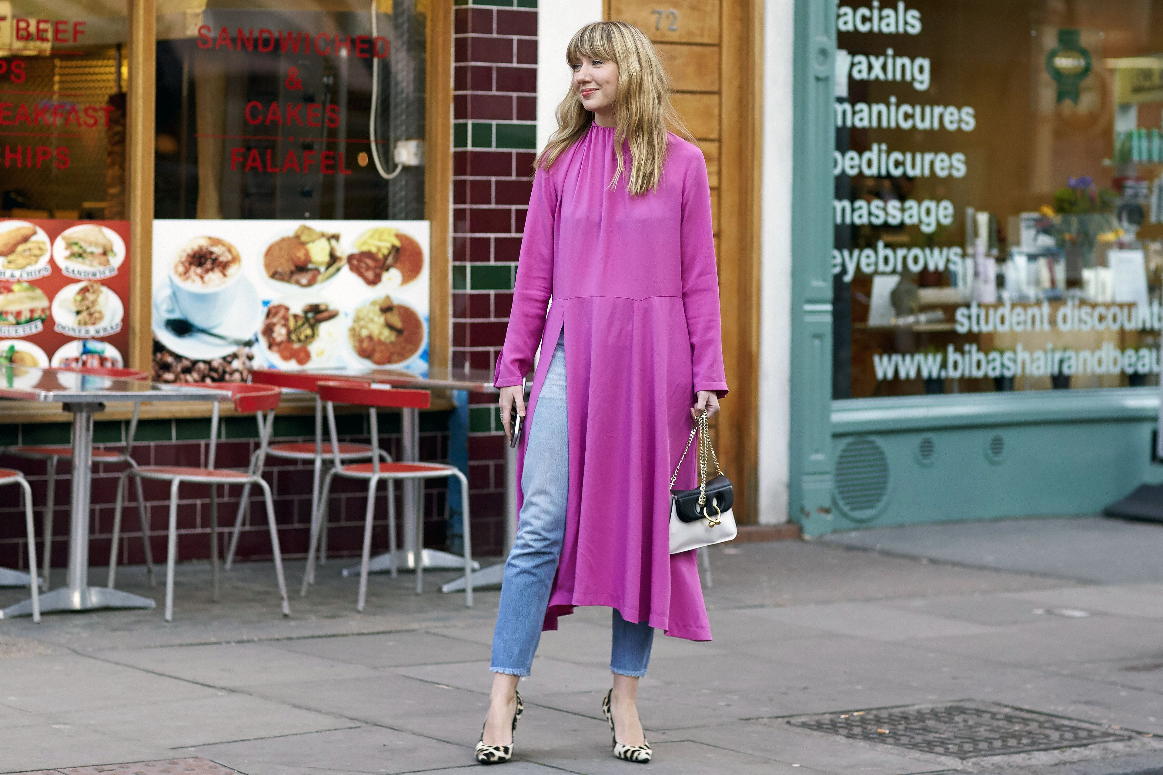 Dresses over jeans the latest street style trend to master the o