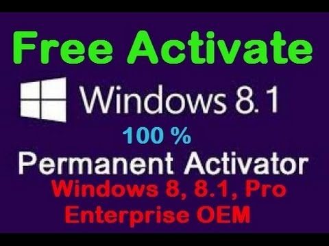 Activate  windows 8  Windows 8.1 Pro Free Activate  permanently 100%  work