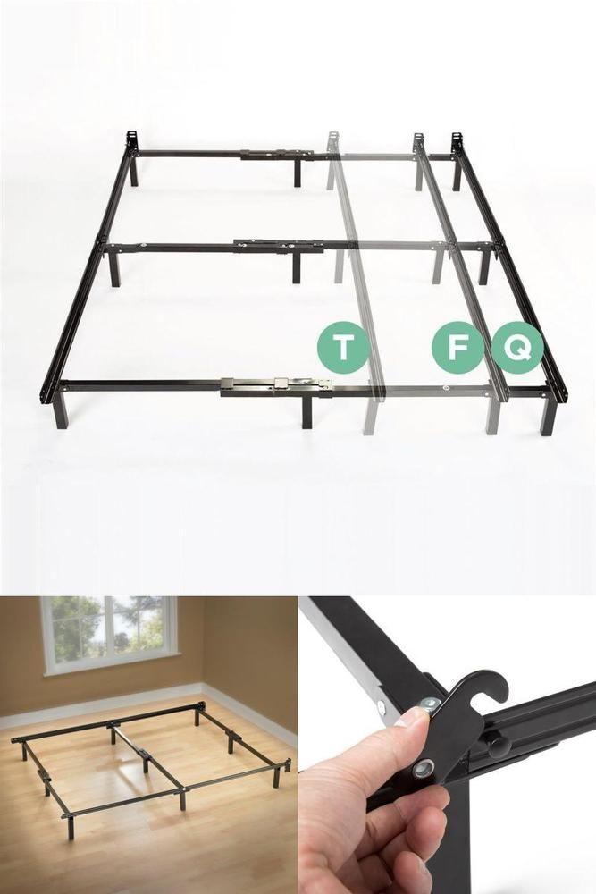 King Size Metal Bed Frame Box Mattress Universal Adjustable Twin