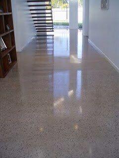 Fresh Polished Concrete Basement
