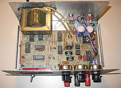 Inside view of home-built audio frequency generator  | electronics