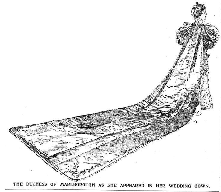 Consuelo Vanderbilt Wedding, (7 Nov 1895)--artist rendering of ...