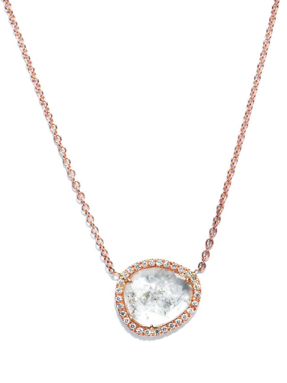 Susan foster diamond slice pavé and gold necklace