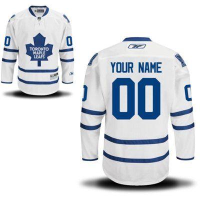 Reebok Toronto Maple Leafs Men s Premier Away Custom Jersey - White ... cf2ffe7bd