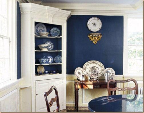 Blue Dining Room Colonial HTOURS1105 De