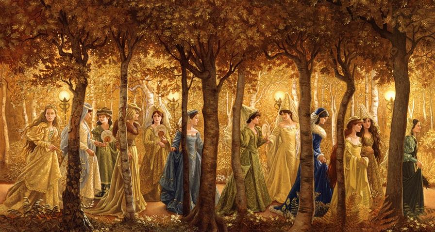 The twelve princesses...leaving their secret dance