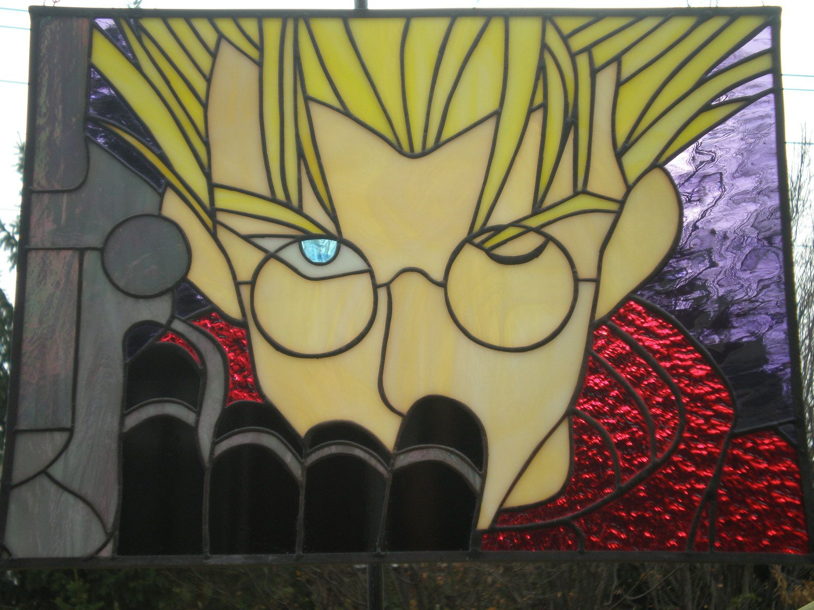 Vash the stampede in stained glass by ZeroWingLabs