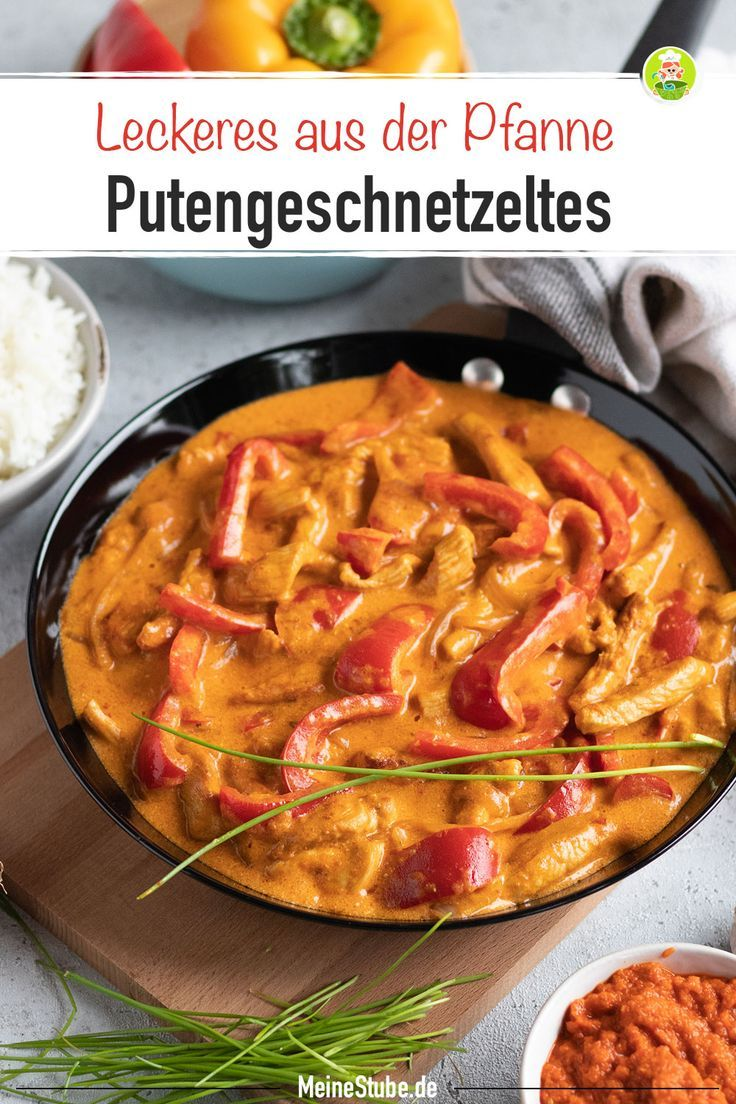 Photo of Paprika Turkey sliced ​​in a delicious cream sauce – MeineStube