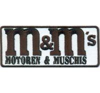 M&M M und M`s Motoren und Muschis Motorrad Biker Aufnäher Patch Aufbügler