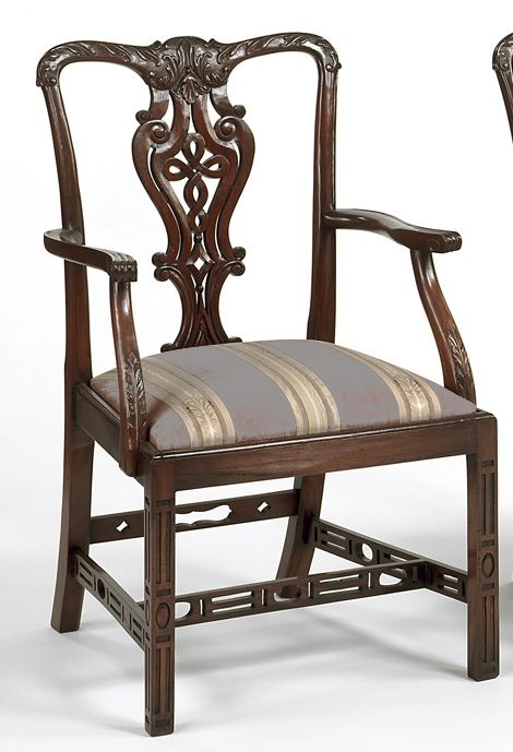 We Own Two Of These Chippendale Chairs From The Federalist. Will  Reupholster Them In Solid