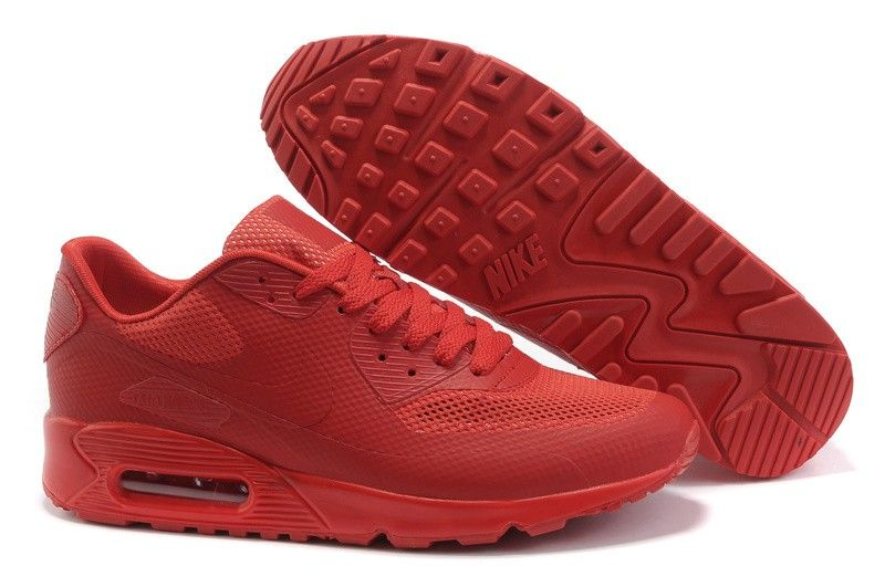 Air Max 90 Premium Hyperfuse Men Shoes All Red Color on sale