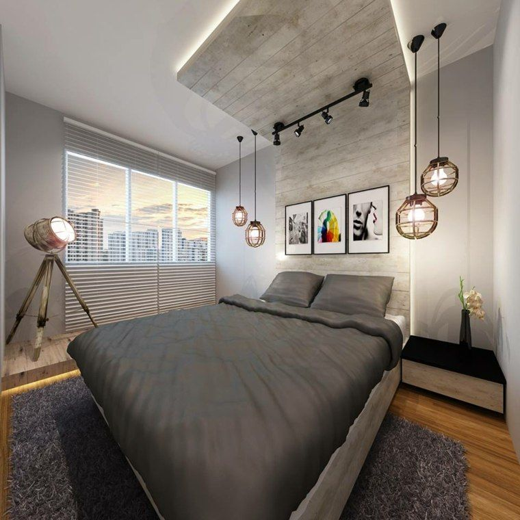 Hdb Home Design Ideas: Déco Chambre Parentale De Style Industriel Chic