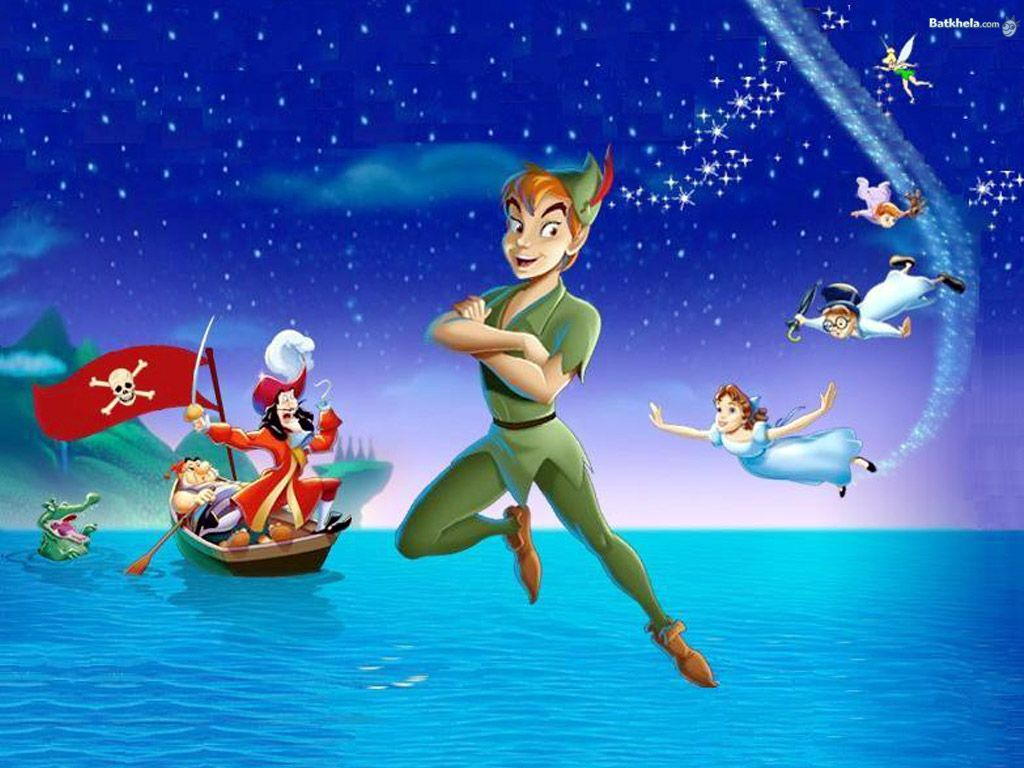 Images For Peter Pan Tinkerbell Flying