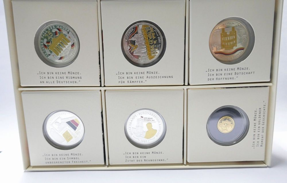25 Jahre Mauerfall Silber 333 1000 Silbermedaillen Gold Set Medaille 585 1143 Medaillen Silber Gold