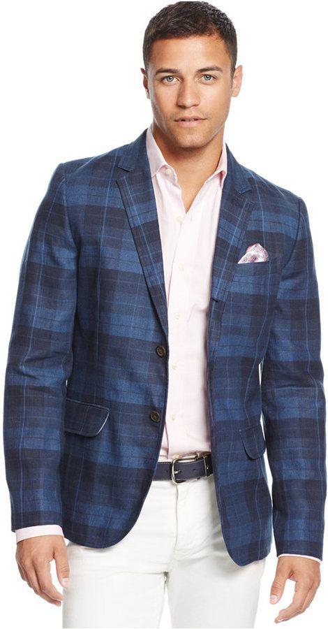 Vallejo Linen Sport Coat   Linen sport coat, Plaid blazer and ...