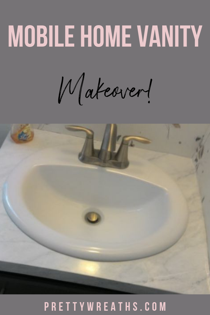Update Your Mobile Home Vanity Or Any Vanity For That Matter Very Easily Get Some Inspiration To Upgrade Your Old Van In 2020 Mobile Home Mobile Home Makeovers Old Vanity