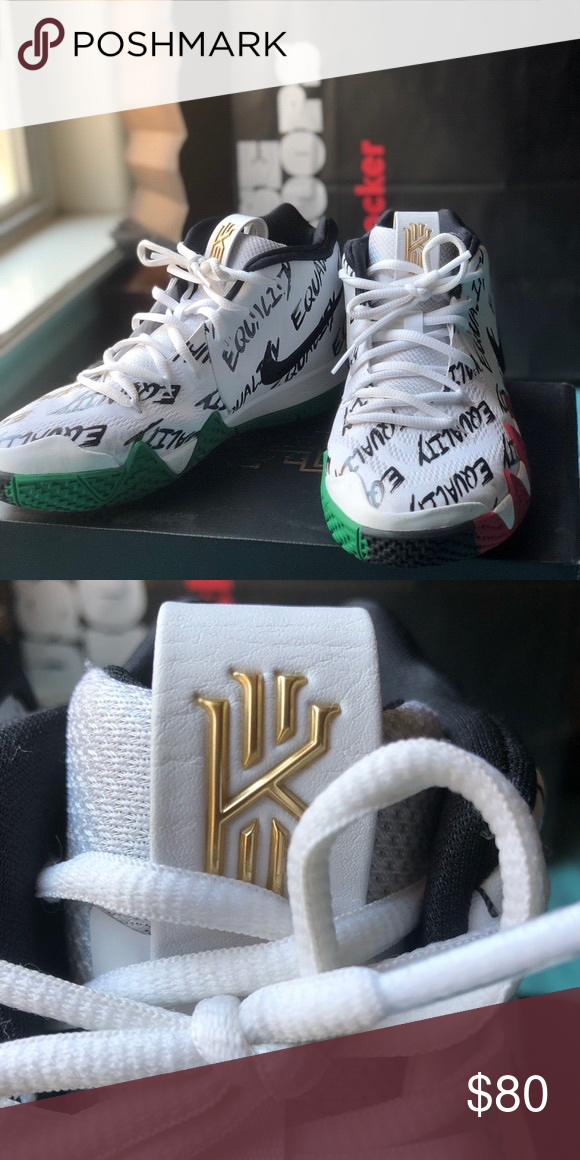sale retailer 92ed3 fe60b KYRIE 4 BHM (GS) SHOES Can ship the box aswell Nike Shoes ...
