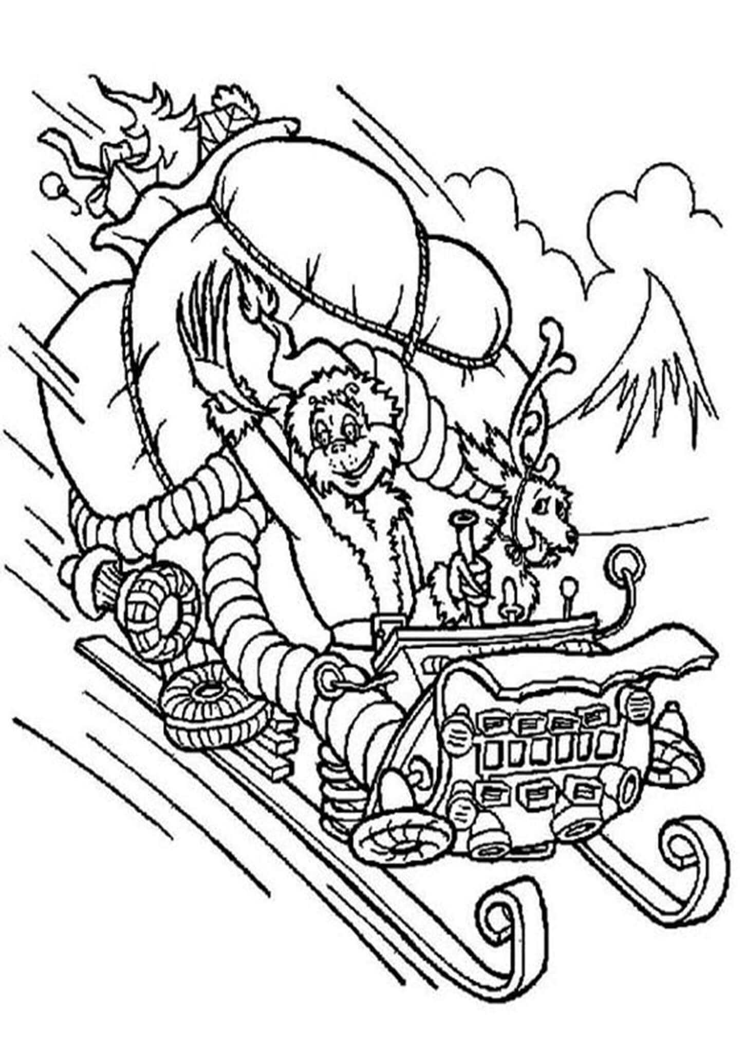 Free Printable The Grinch Coloring Pages In 2020 Grinch Coloring Pages Free Christmas Coloring Pages Christmas Coloring Pages