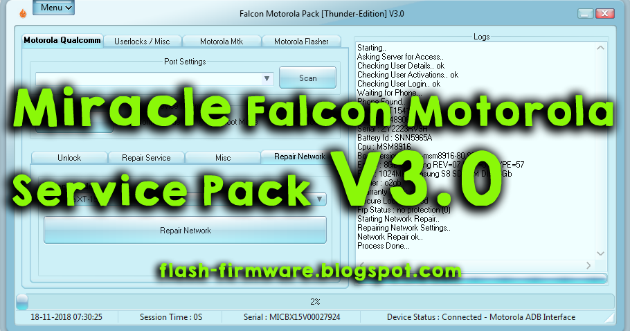 DownloadMiracle Falcon Motorola Service Pack V3 0 Feature: Motorola