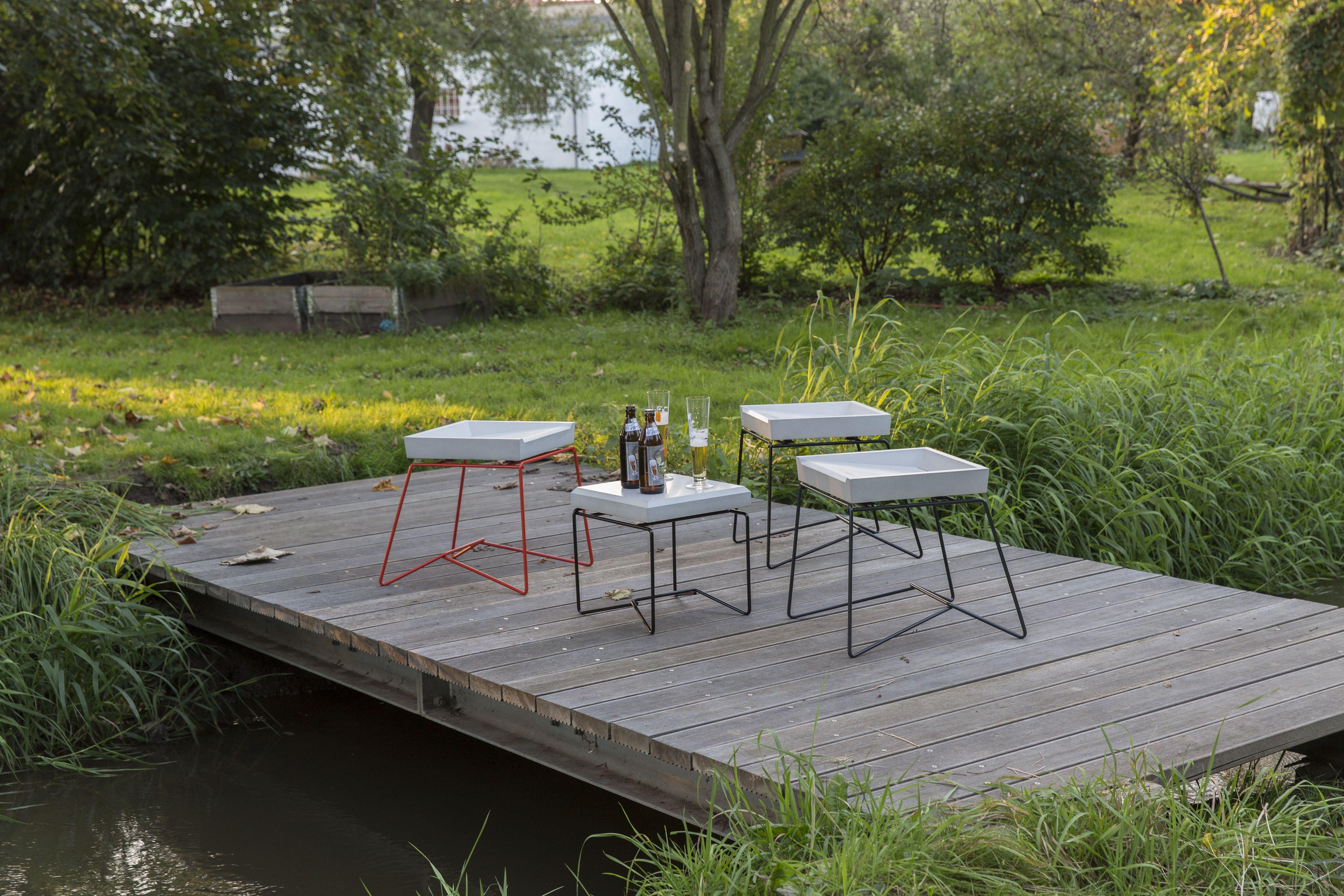 betonhocker, betontisch, betonstuhl, garten, terrasse, design, Gartenarbeit ideen