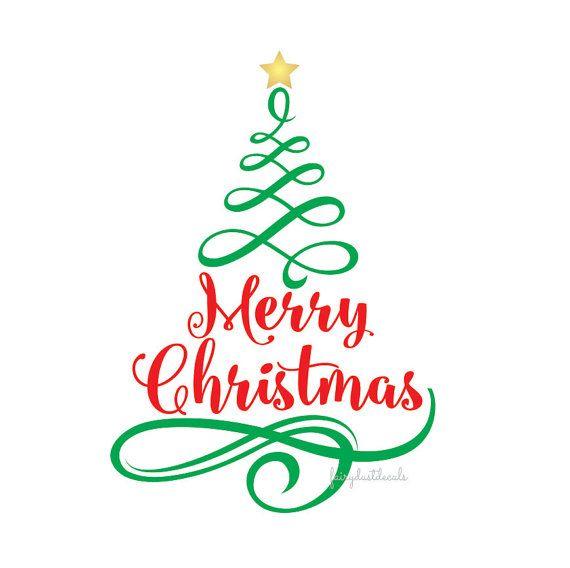 Christmas Vinyl Decals.Merry Christmas Vinyl Decal By Fairydustdecals On Etsy