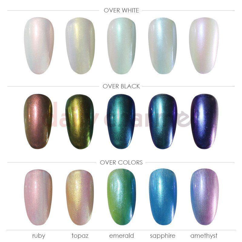 Introducing the Stardust Unicorn Powder Set featuring 5 different fine micro pigments that can be used to create the most magical nails! This versatile set can be used individually or mix & match to a