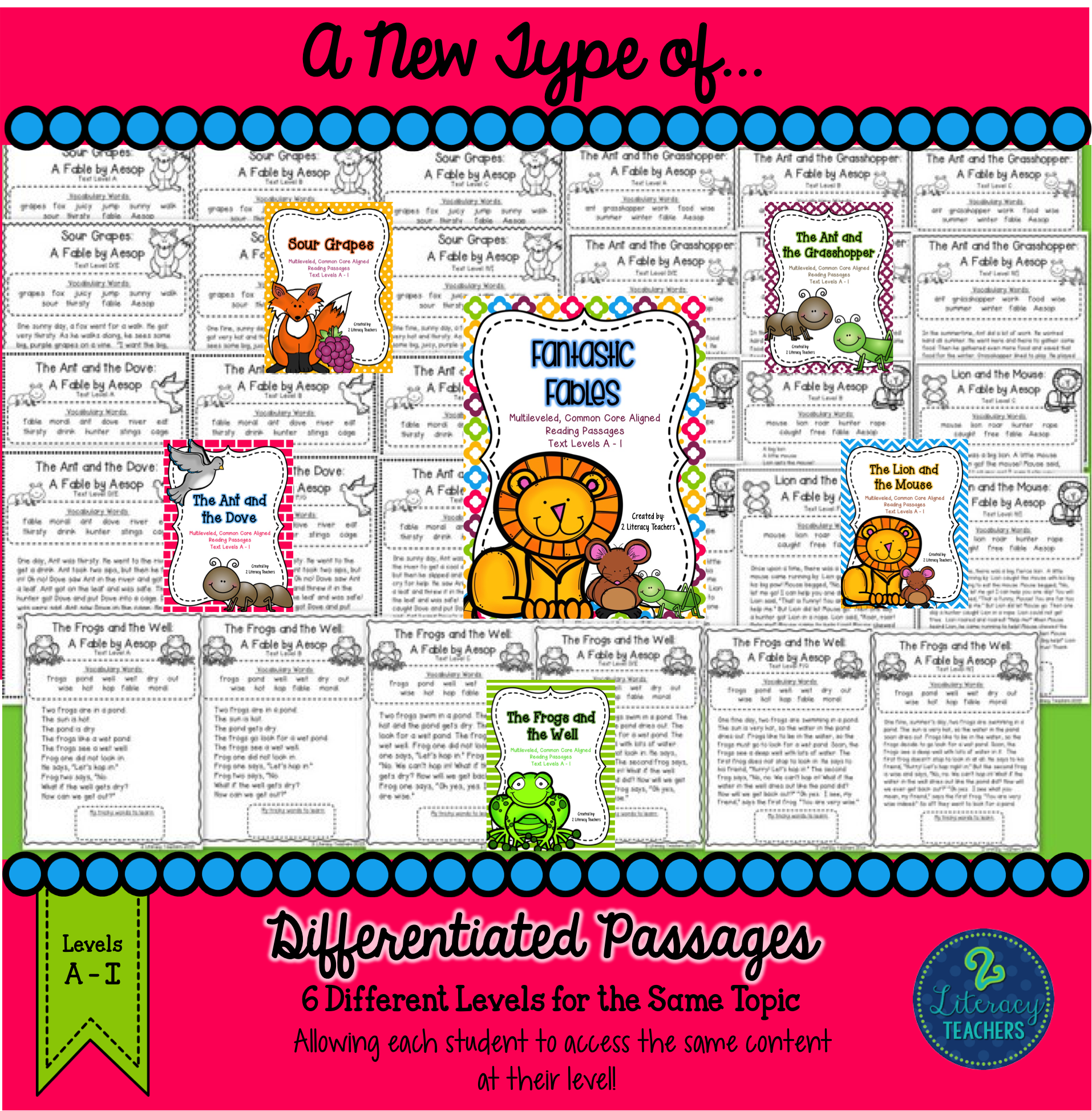 Aesop S Fables Ccss Aligned Leveled Reading Passages Amp Activities Bundle A I