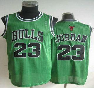 Chicago Bulls Jersey #23 Michael Jordan Green Revolution 30 Authentic  Jerseys