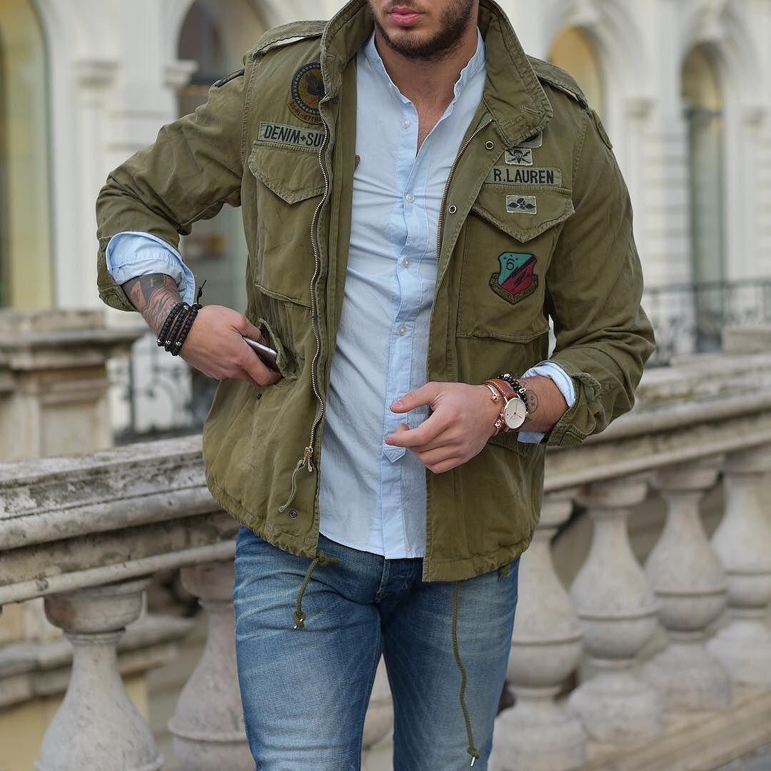 Military jacket by Ralph Lauren | Männliche mode, Bekleidung