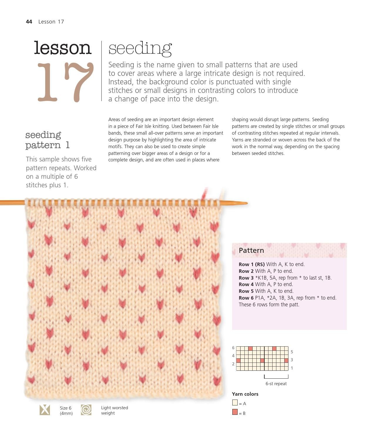 The very easy guide to fair isle knitting sample pages martin s chart nvjuhfo Choice Image