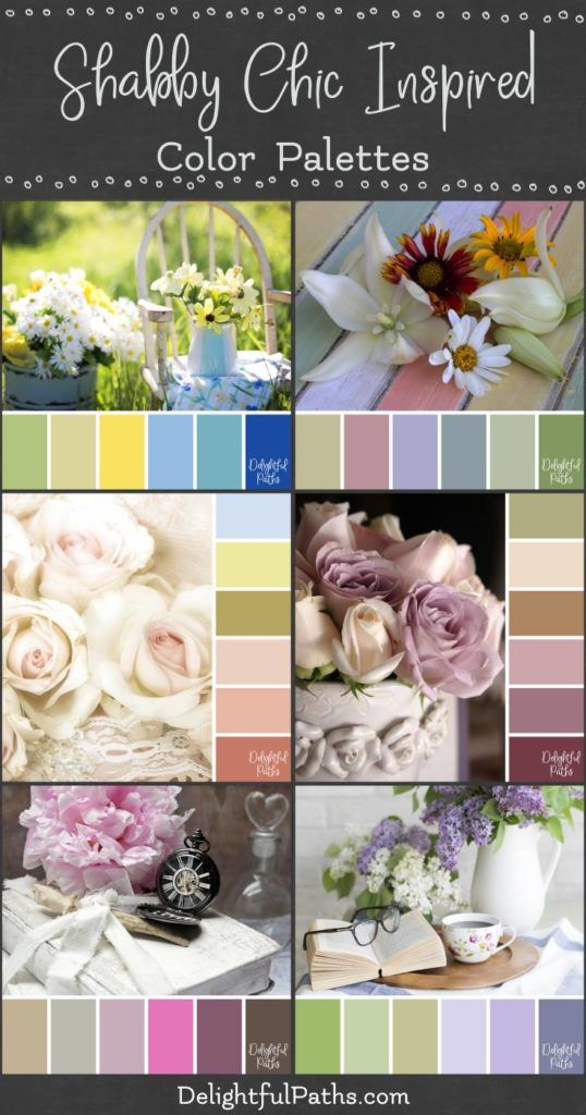 Photo of Shabby Chic Inspired Color Palettes – Delightful Paths